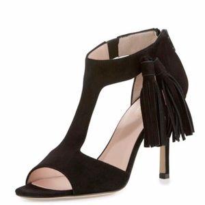 Kate spade suede tassel heels